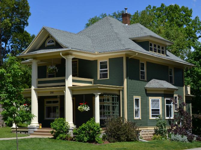 Historic house colors 2012 wisconsin colonial revival project historic house colors - Historic colonial house plans paint ...