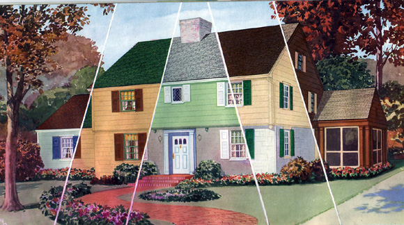 Historic House Colors Glidden Age Of Color Brochure Historic