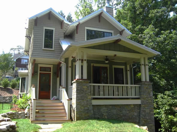 Historic house colors new bungalow in ashville for Bungalow show homes